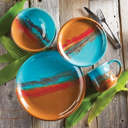 Canyon Sky Pottery Dinnerware (4 pcs)
