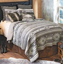 Canyon Slate Quilt Set - King
