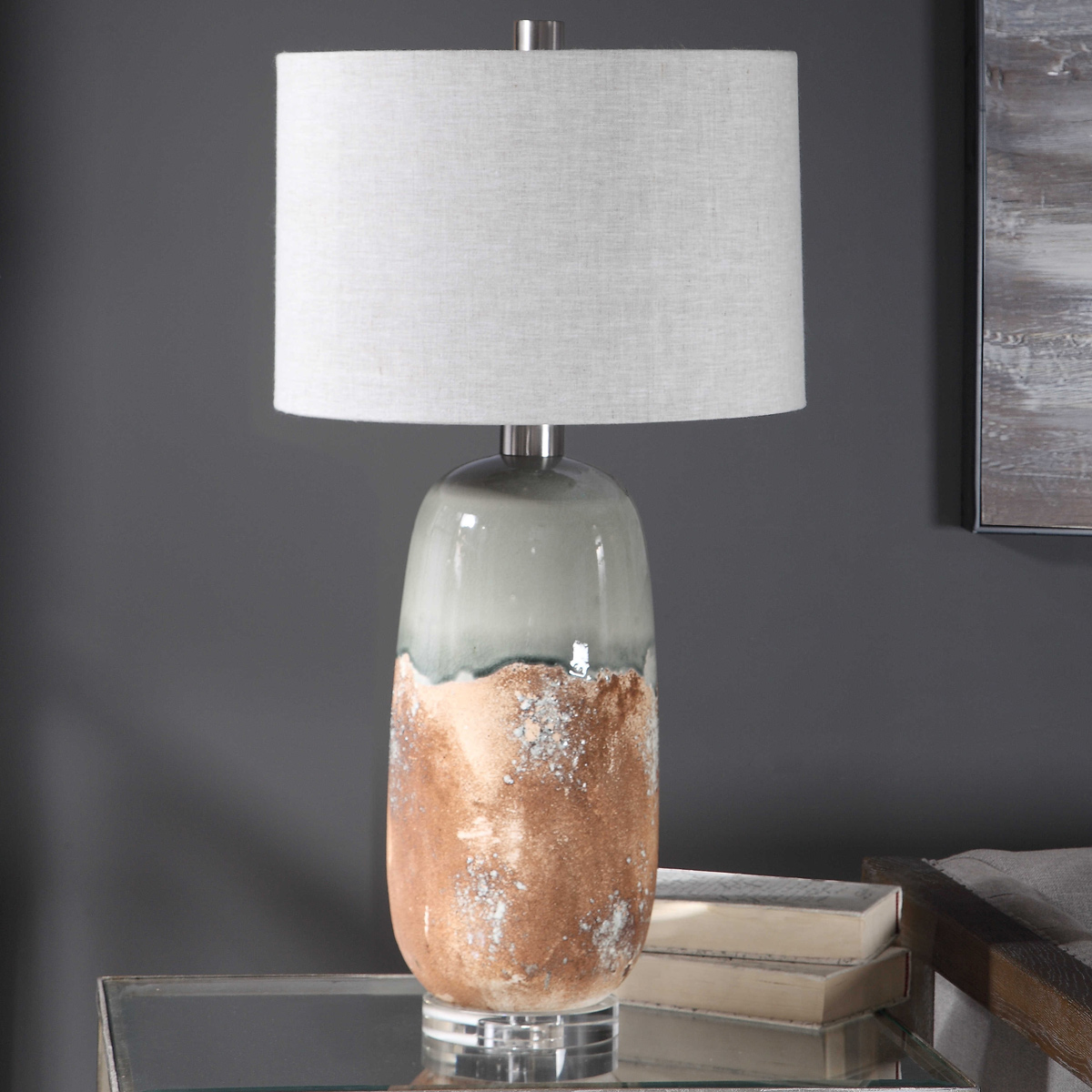 Canyon Smoke Table Lamp