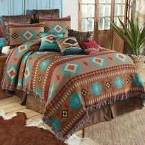 Canyon Springs Tapestry Coverlet - Queen
