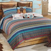 Canyon Stripes 3pc Quilt Set - King