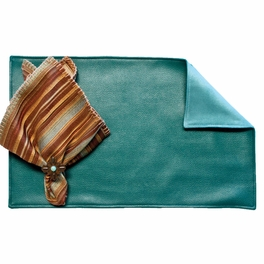 Caravelle Teal Placemats with Tide Pool Back - Set of 4