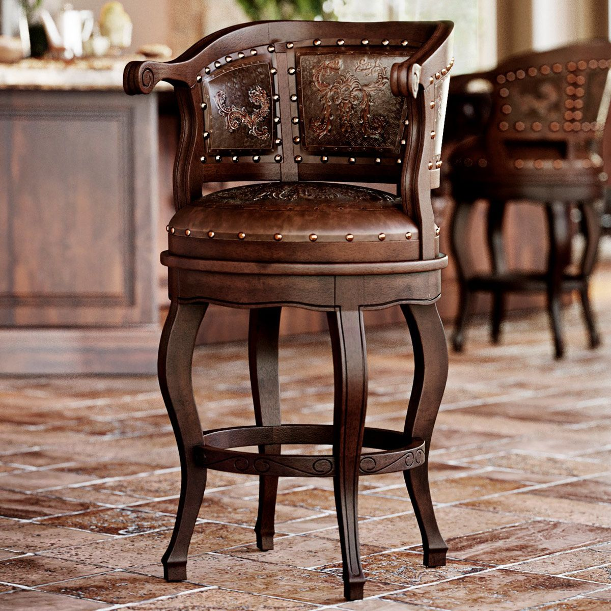 Cardenal Barstool - Antique Brown