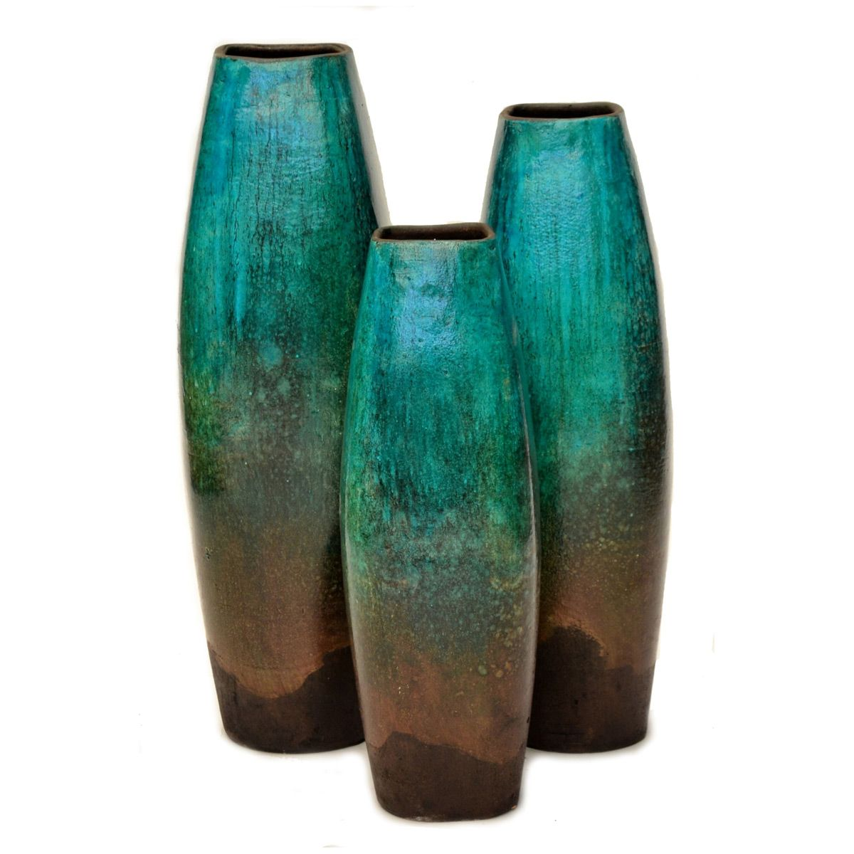 Casilla Turquoise Vases - Set of 3