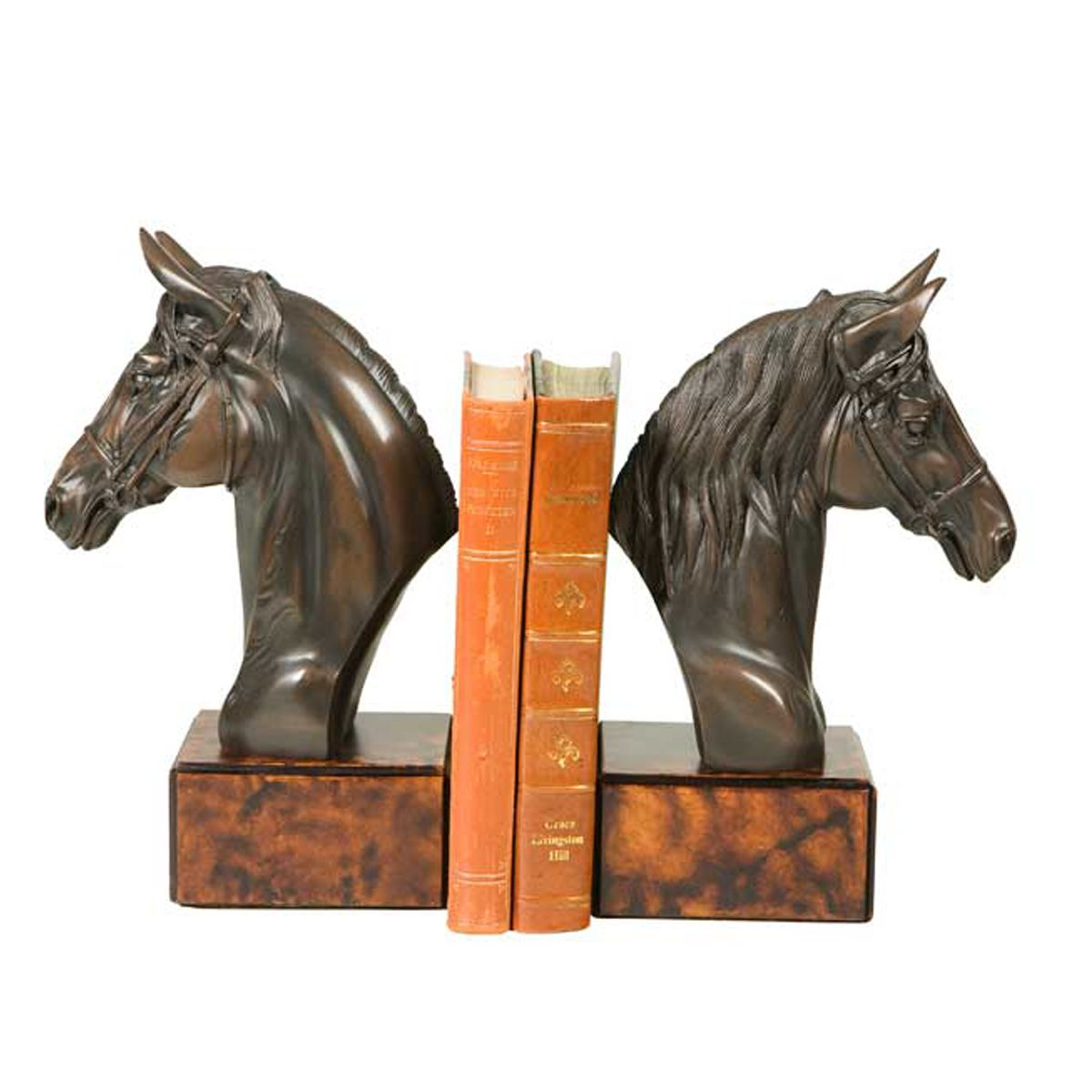 Cassidy Horse Head Bookends