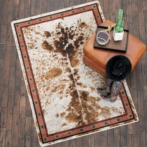 Cattle Drive Spotted Brindle Rug - 8 x 11