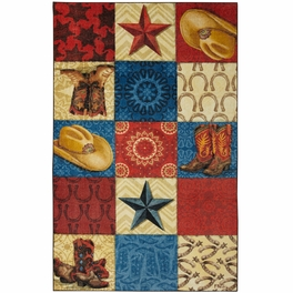 Cattle Run Squares Rug Collection