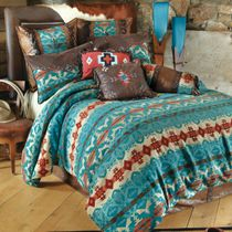 Cerrillos Hills Turquoise Bed Set - Twin