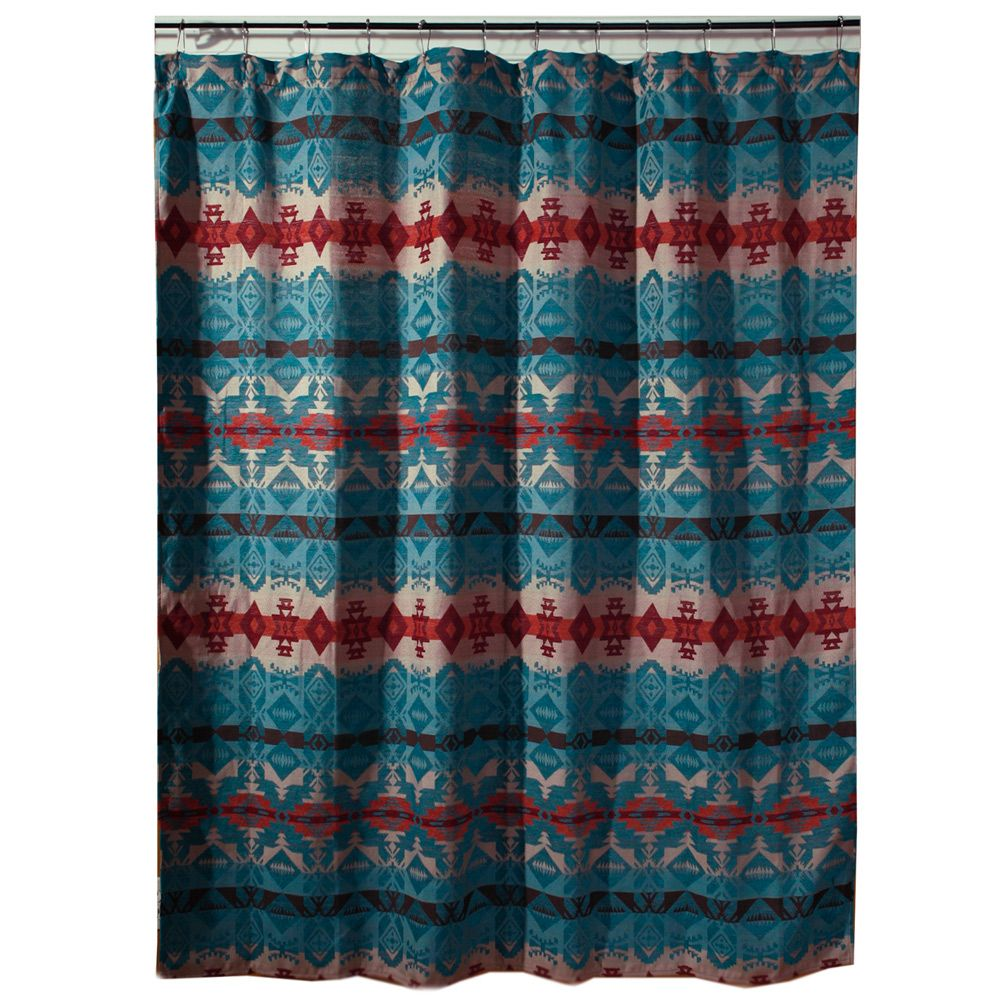 Cerrillos Hills Turquoise Shower Curtain