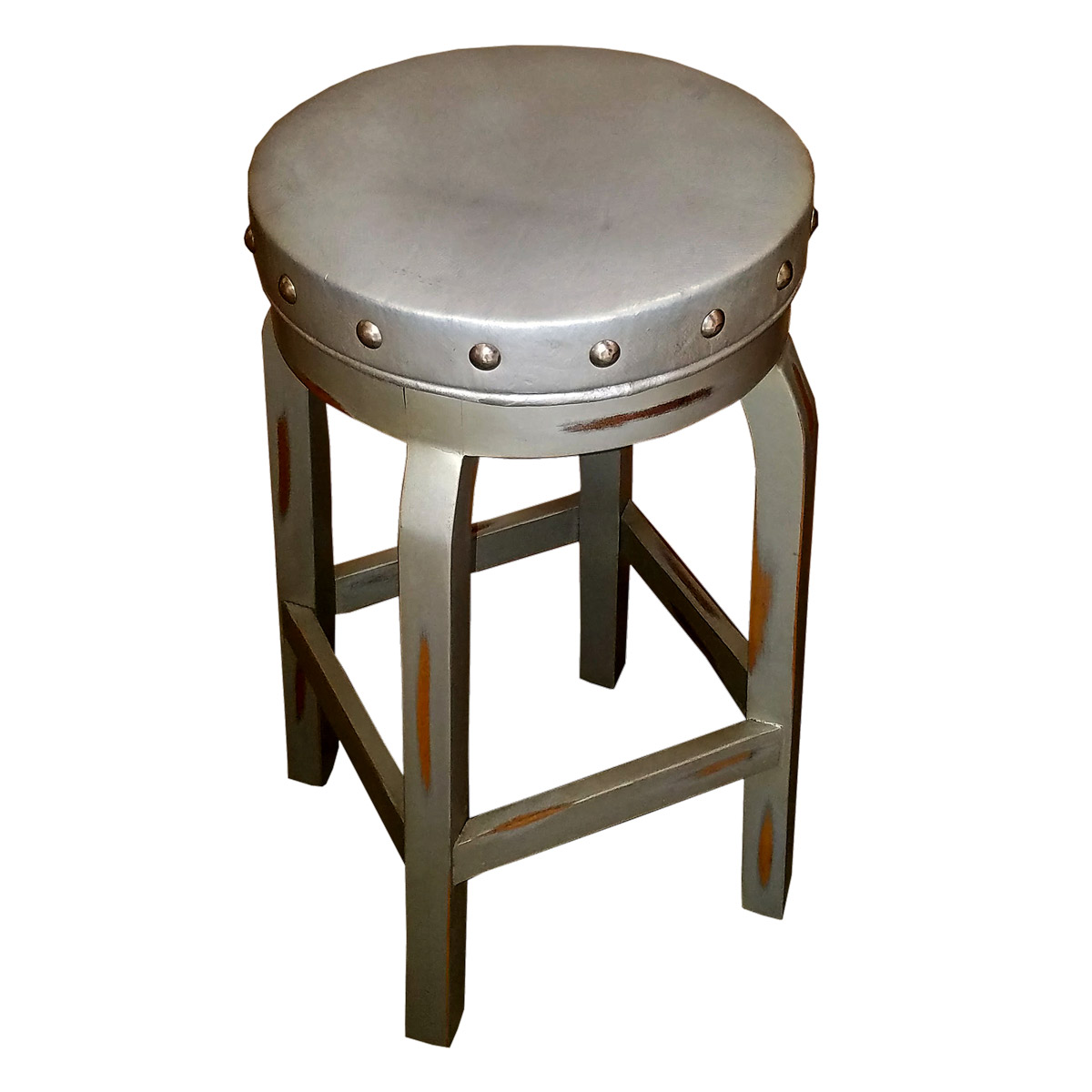 Charlotte Silver Counter Stool