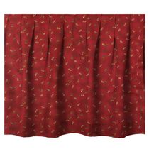 Cherry Red Gathered Bedskirt - King