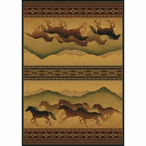 Chestnut Mare Accent Rug