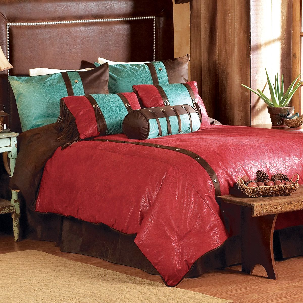 Cheyenne Red Bed Set - Super King
