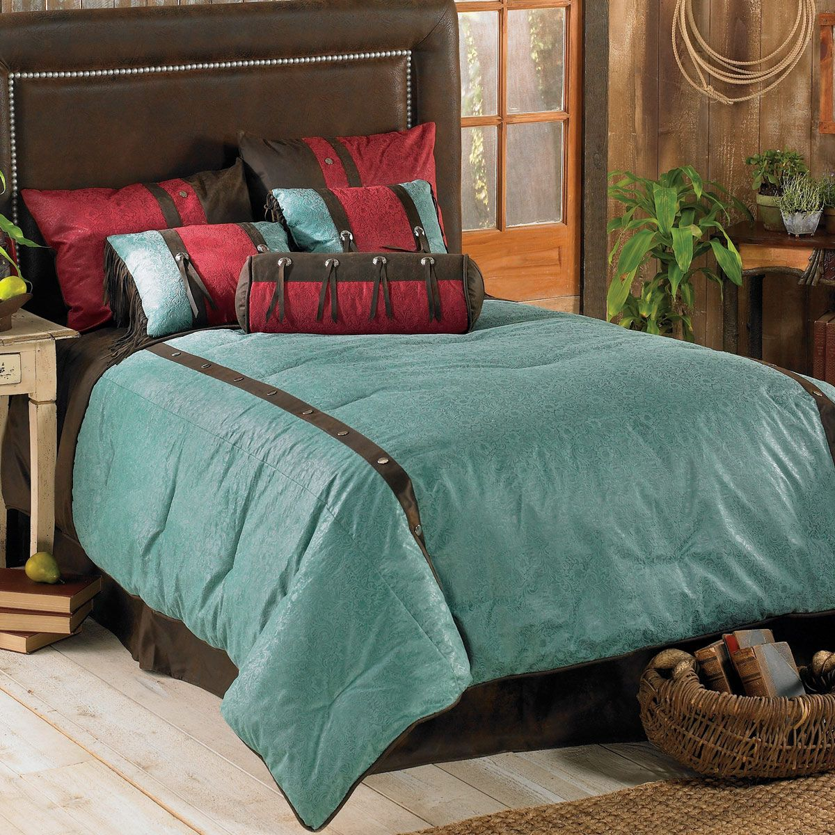 Cheyenne Turquoise Bed Set - Twin