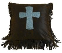 Cheyenne Turquoise Cross Pillow