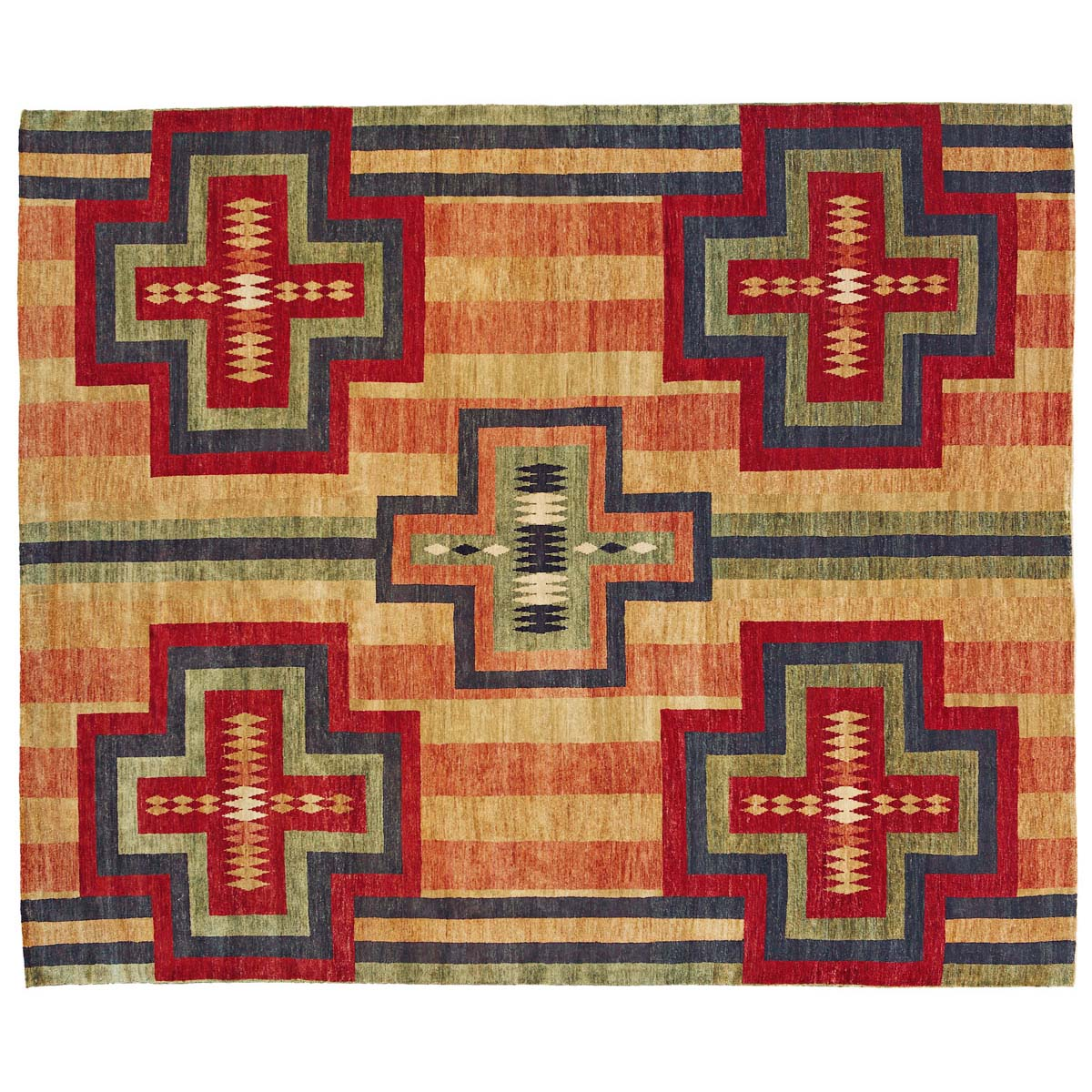 Chief Blanket Beige Rug - 6 x 9