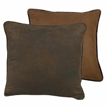 Chocolate and Tan Reversible Euro Sham