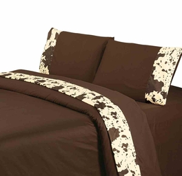 Chocolate Cowhide Sheet Sets