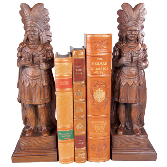 Cigar Store Indian Bookends - Set of 2