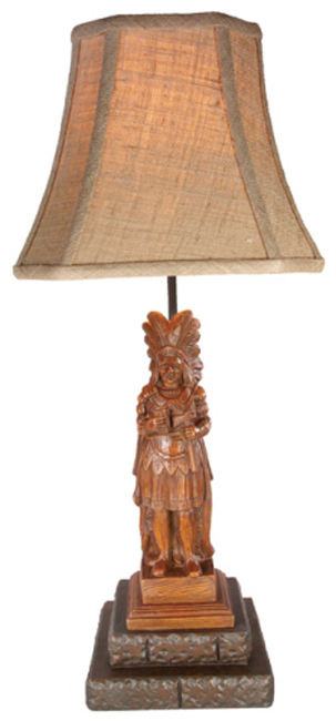 Cigar Store Indian Lamp