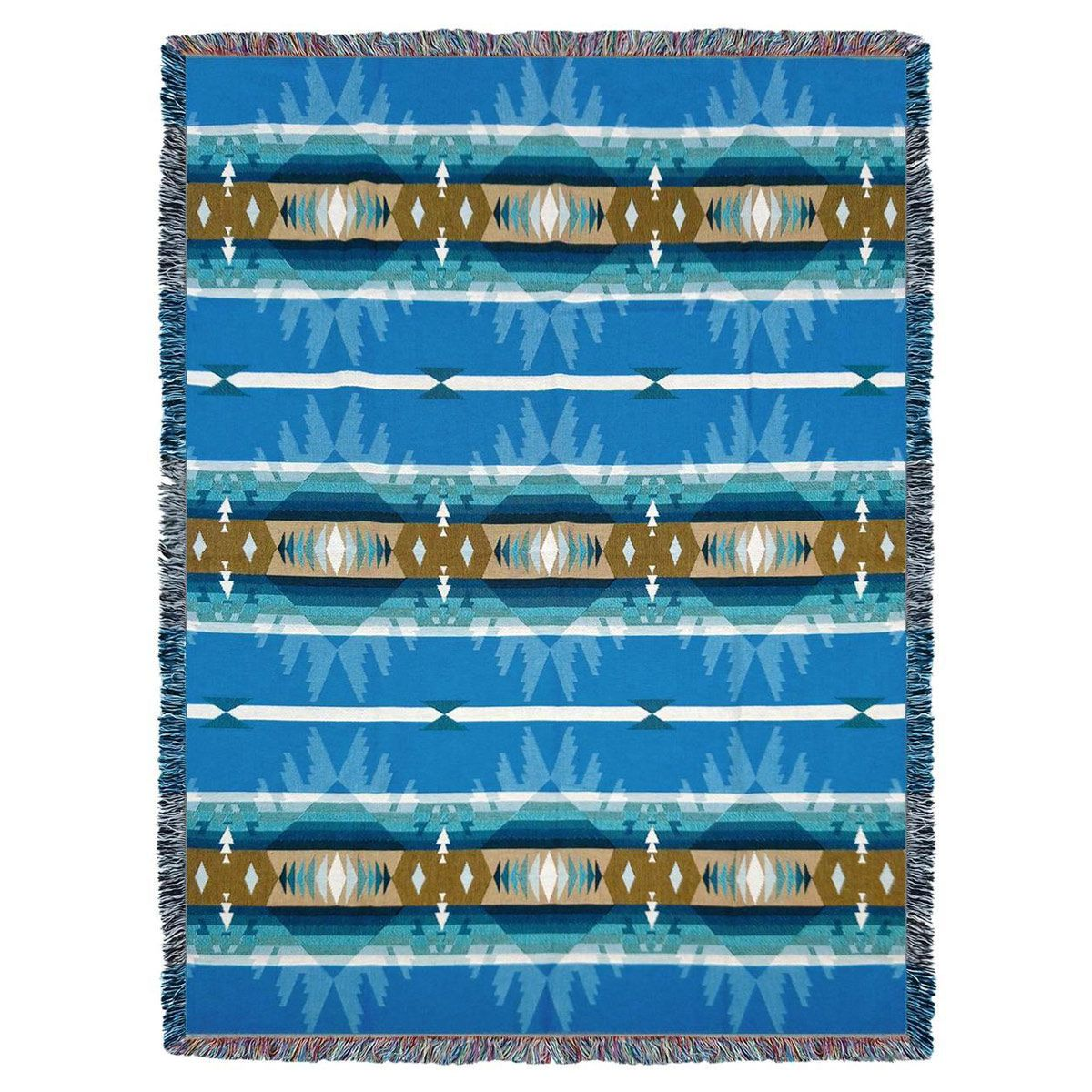 Cimarron Turquoise Tapestry Throw
