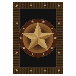 Circled Lone Star Rug Collection
