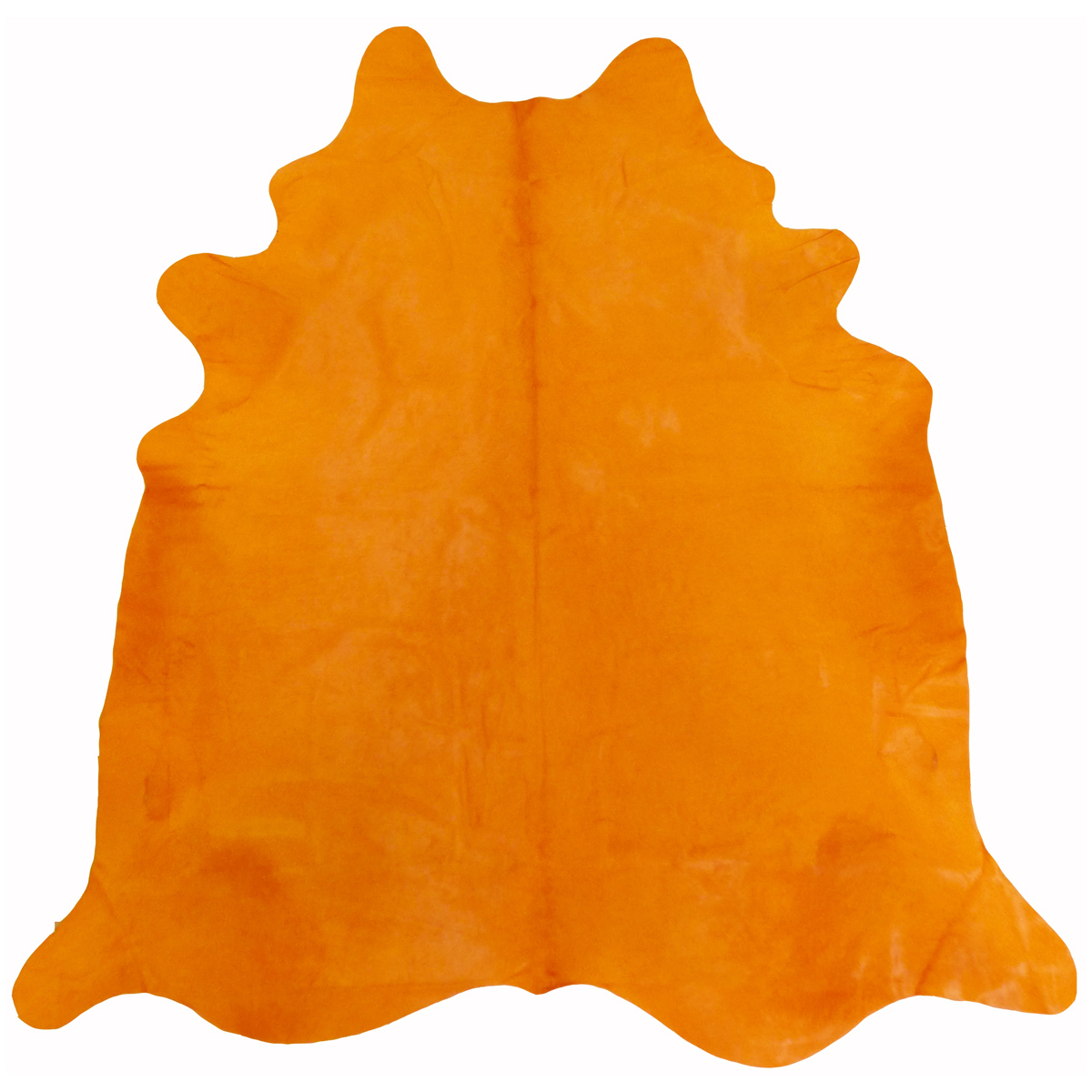 Citrus Orange Dyed Cowhide - Large