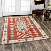 City Limit Red Rug - 8 x 11