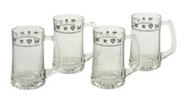Clear Rope and Brands Beer Mug - Set of 4