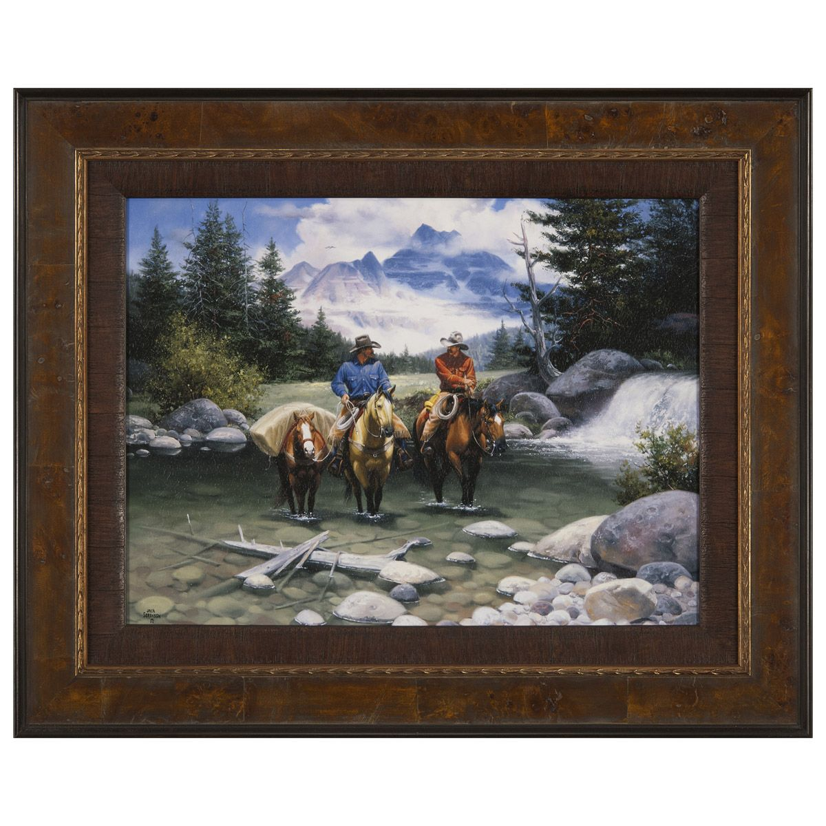 Clear Water Crossing Framed Print