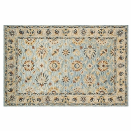 Clementine Natural Blue Rug Collection