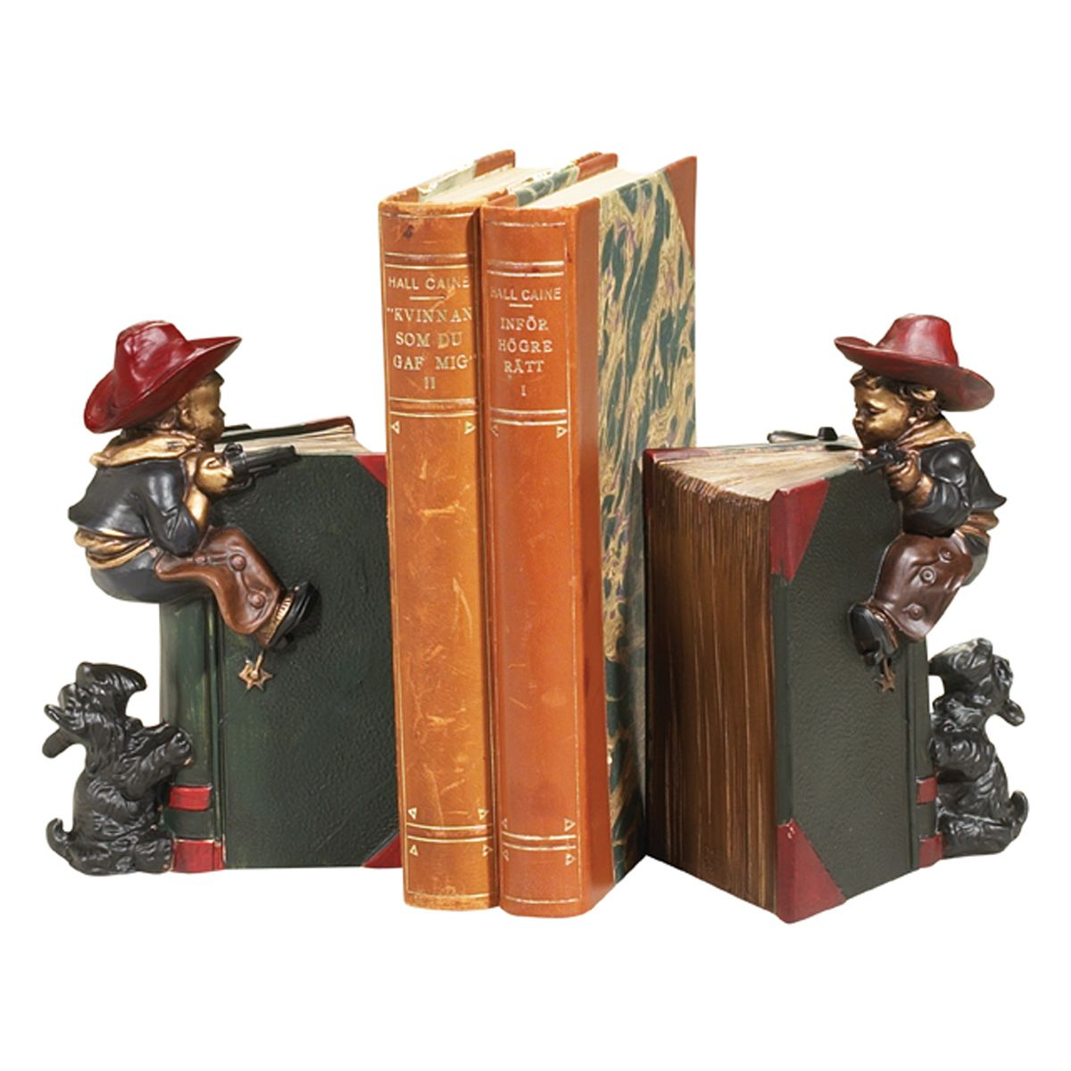 Climbing Cowboy Bookends