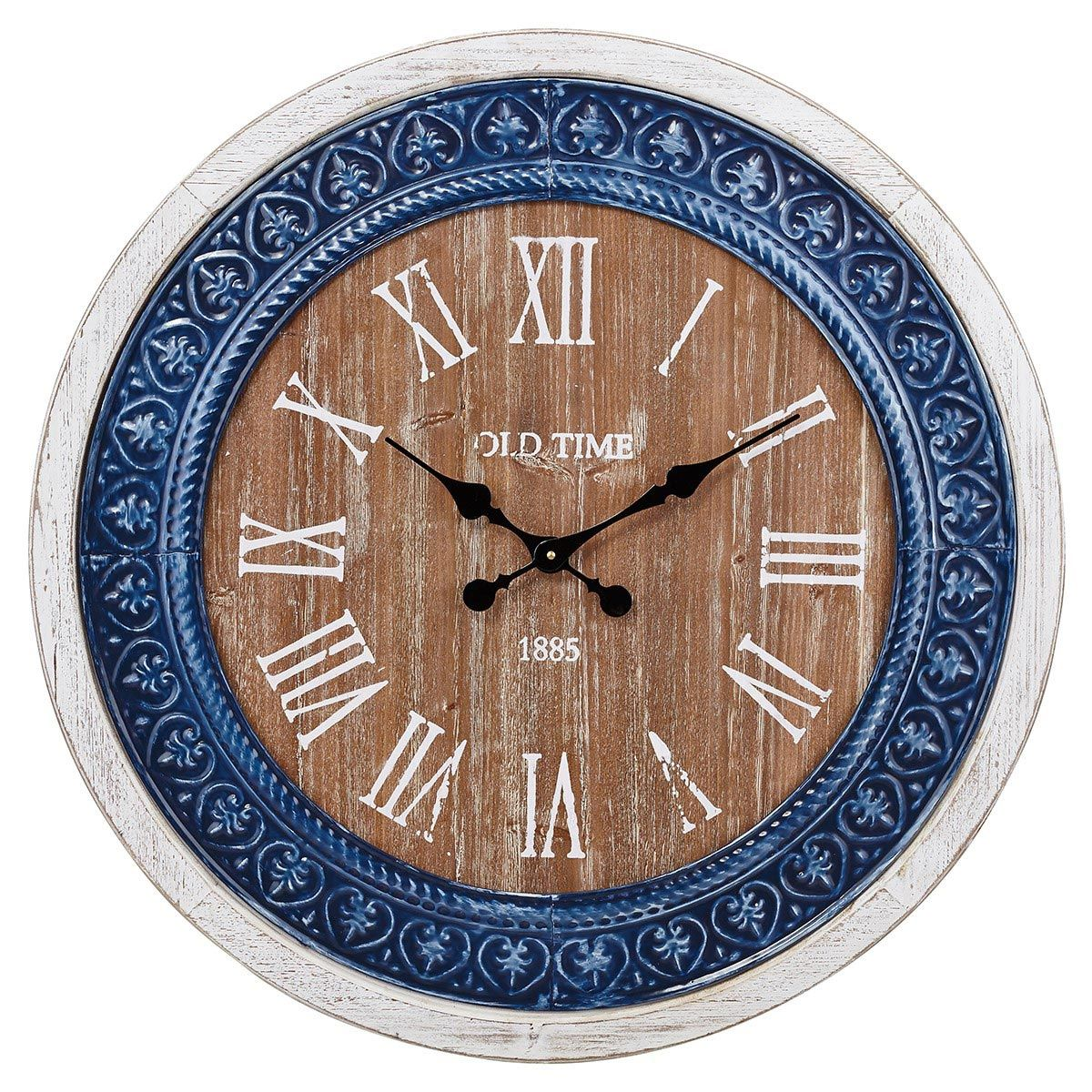 Cobalt Tile Wall Clock