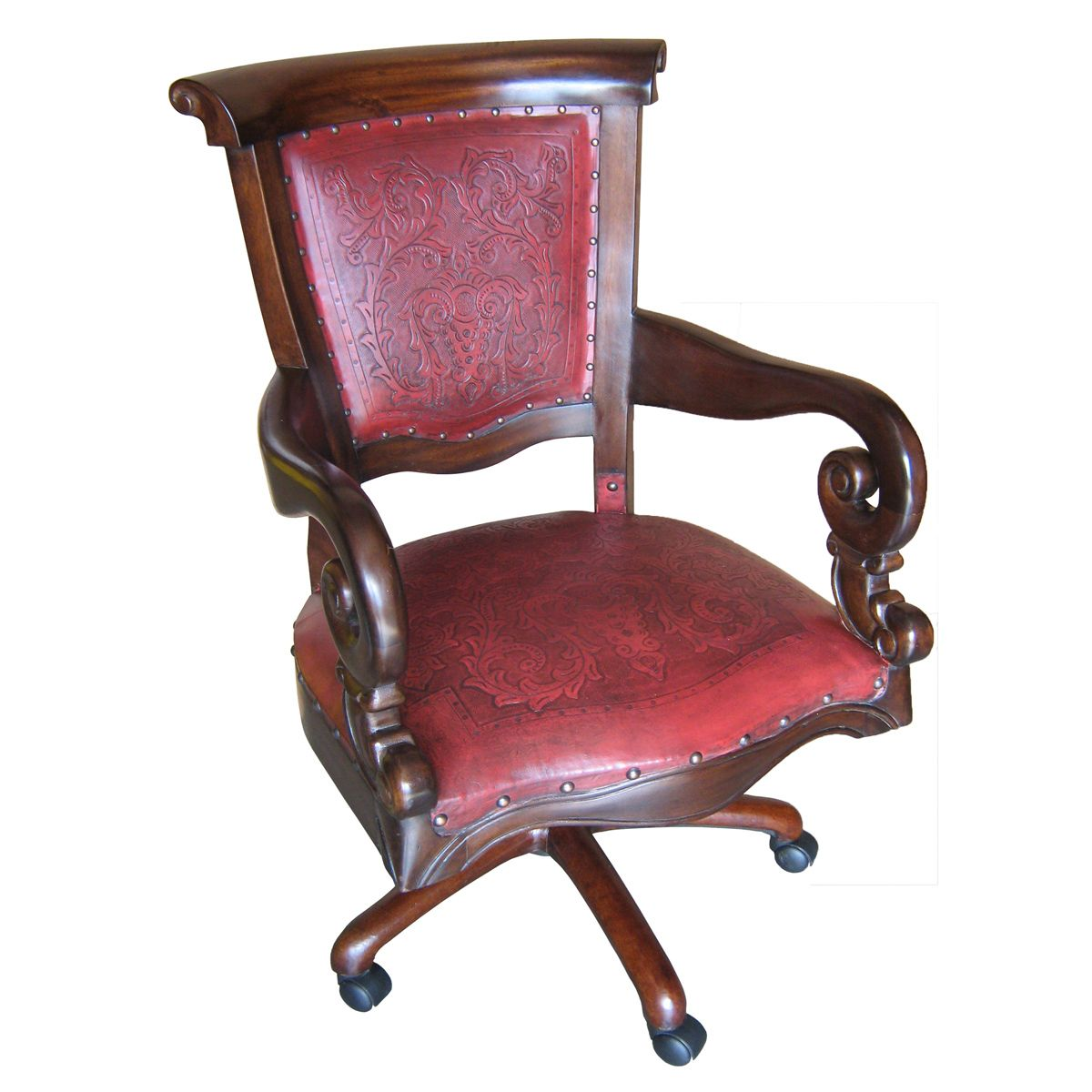 Pleasant Colonial Red Swivel Office Chair Theyellowbook Wood Chair Design Ideas Theyellowbookinfo