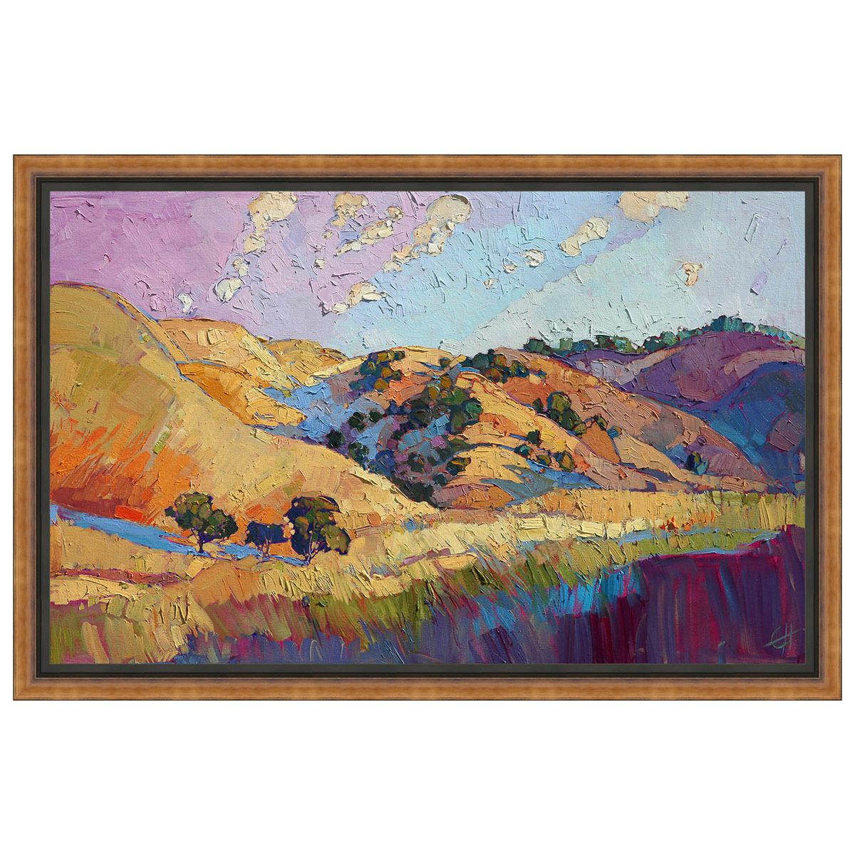 Color Lush Framed Canvas