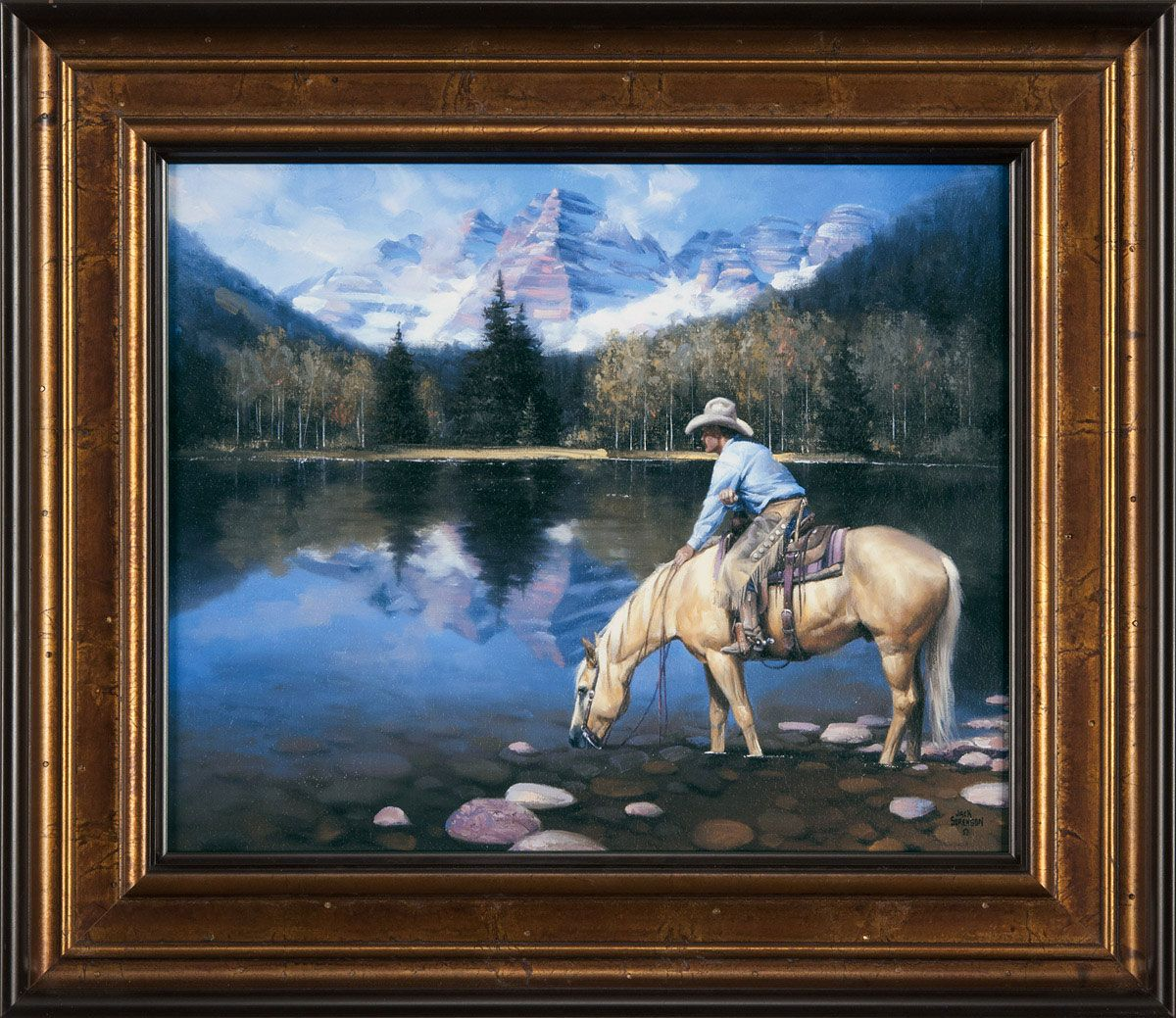 Colorado Cowboy Framed Print