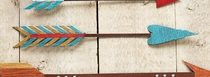 Turquoise, Red & Gold Colorful Arrow Metal Wall Art - 17 Inch