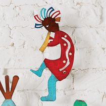 Colorful Kokopelli Wall Art - CLEARANCE