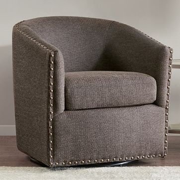 Colton Swivel Chair - Chocolate