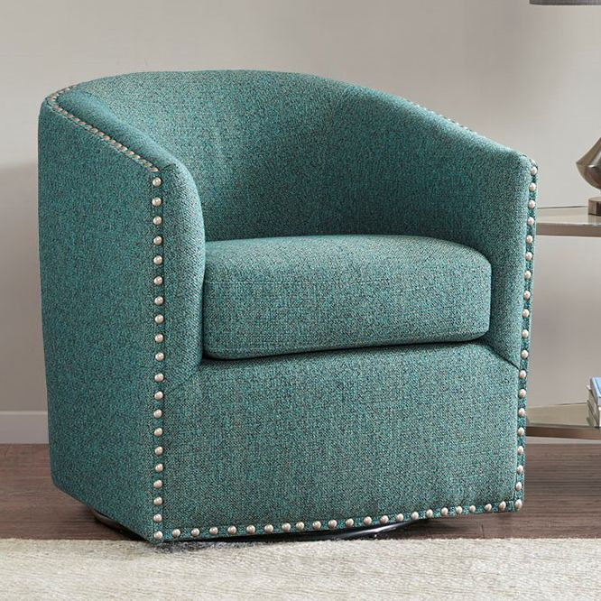 Colton Swivel Chair - Teal
