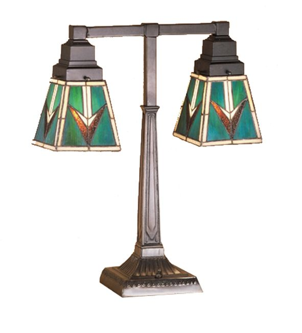 Comanche Mission Two Light Desk Lamp