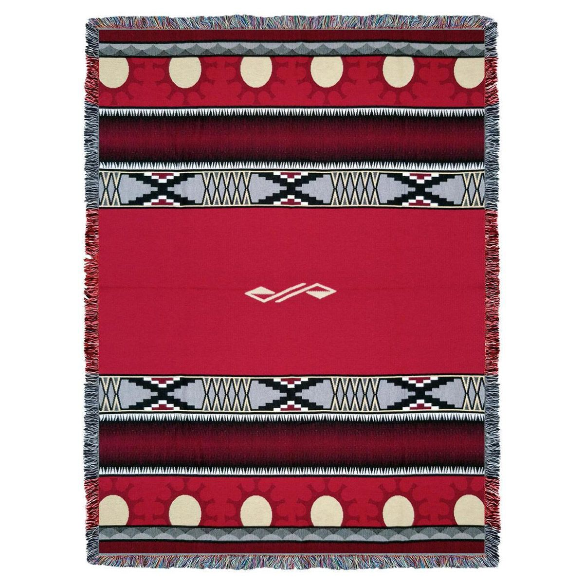 Concho Springs Red Tapestry Throw