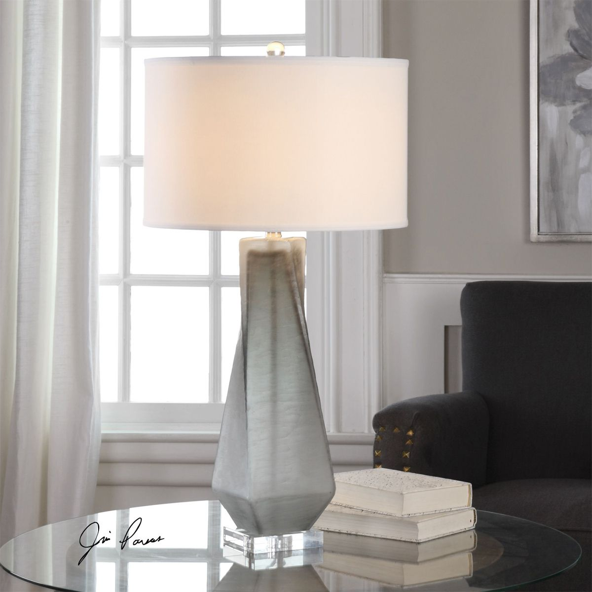 Contemporary Teardrop Table Lamp