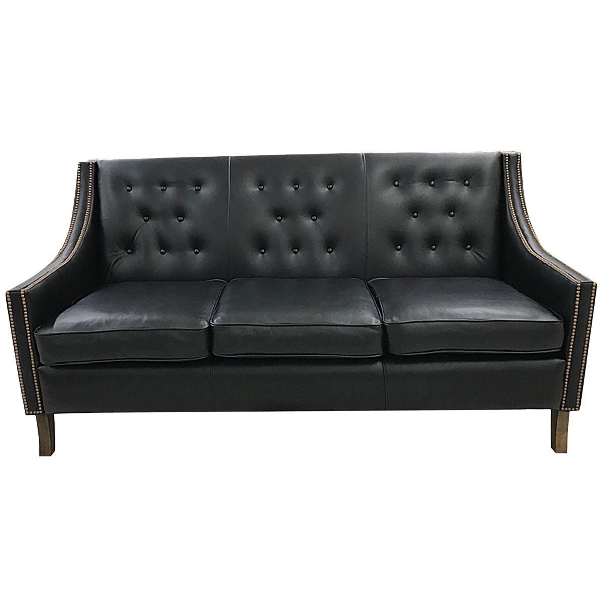 Contemporary Tufted Leather Sofa