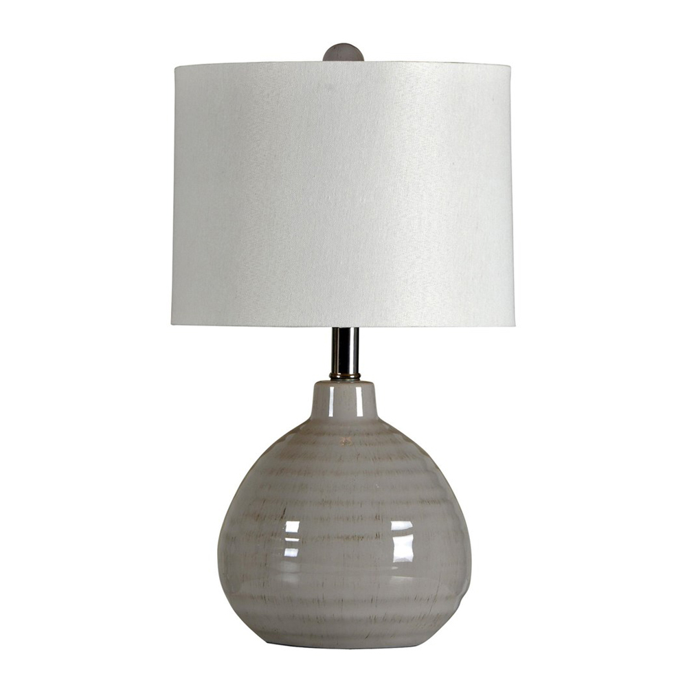Cool Gray Ceramic Accent Lamp