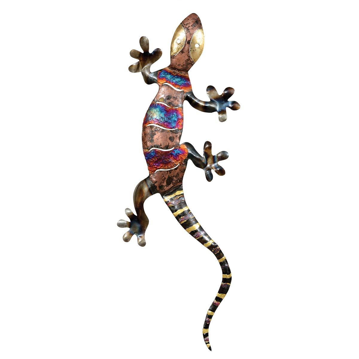 Copper Dripped Gecko Metal Wall Art - Extra Extra Large