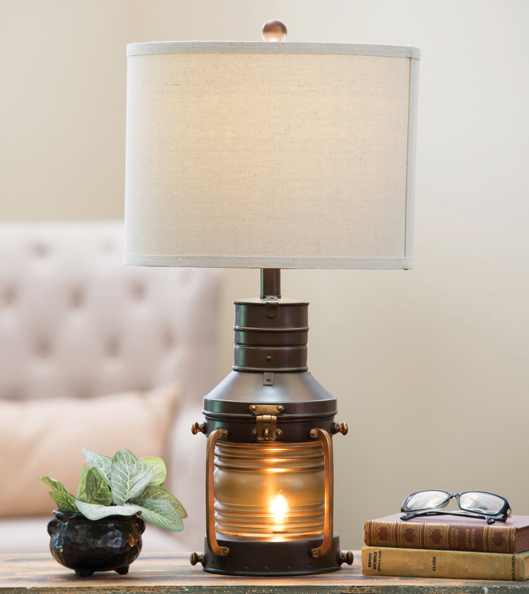 Rustic Lantern Table Lamp