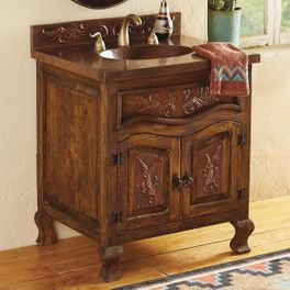 Copper Scroll Bathroom Vanity