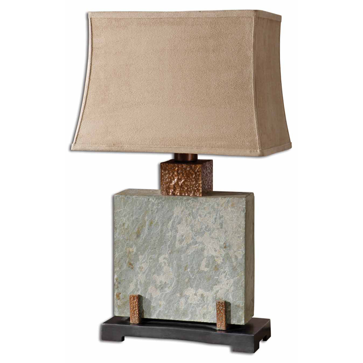 Copper Valley Square Table Lamp