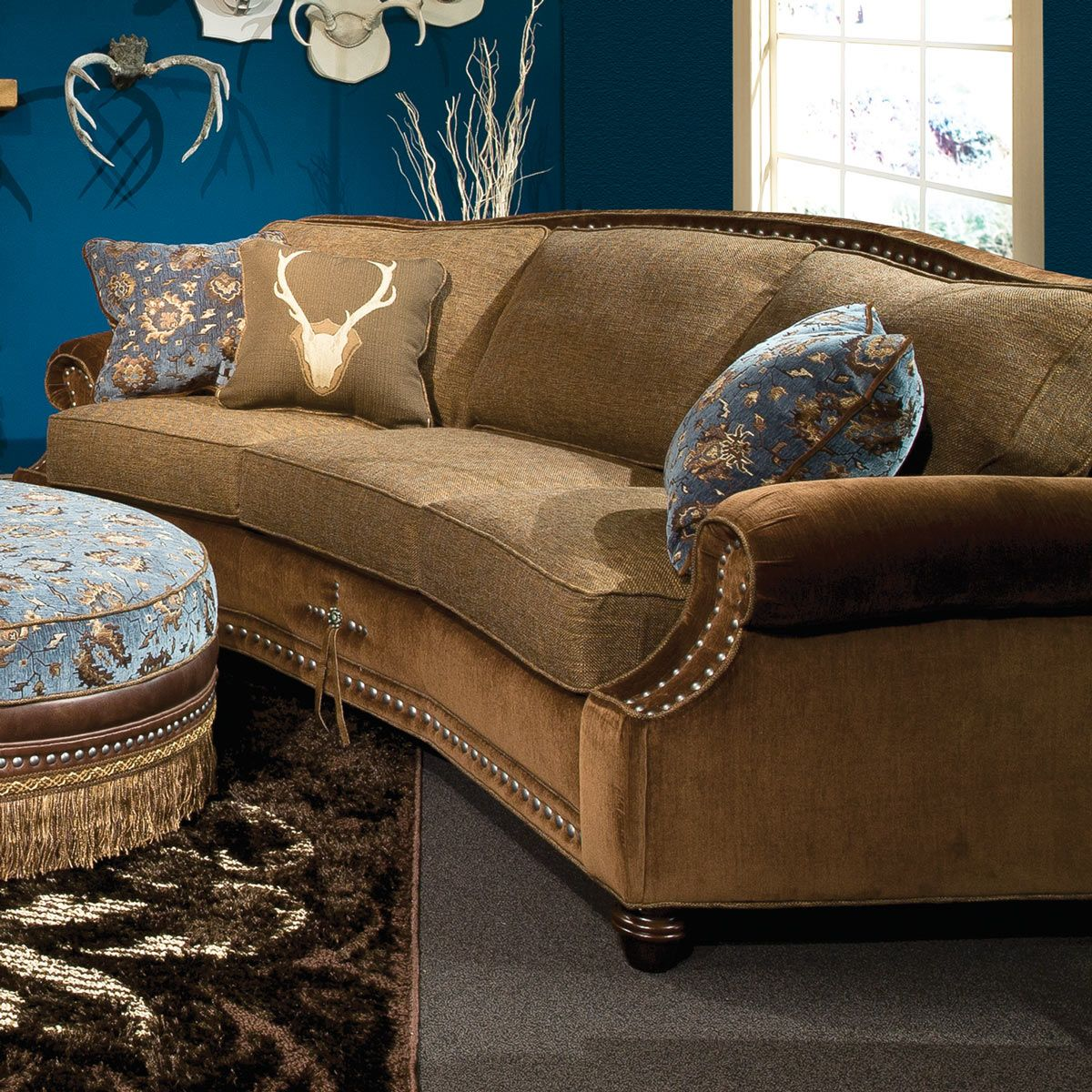 Outstanding Western Elegance Conversation Sofa Onthecornerstone Fun Painted Chair Ideas Images Onthecornerstoneorg